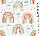 cute scandinavian childish...   Shutterstock . vector #1607922493