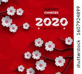 2020 chinese new year banner ... | Shutterstock .eps vector #1607924899