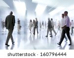 abstakt image of people in the... | Shutterstock . vector #160796444