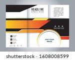 tri fold brochure beauty salon... | Shutterstock .eps vector #1608008599
