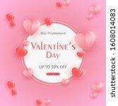 valentine's day promotion...   Shutterstock .eps vector #1608014083
