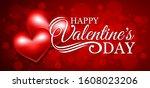 bright valentine's day greeting ...   Shutterstock .eps vector #1608023206