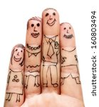 fingers family isolated on... | Shutterstock . vector #160803494