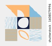 abstract naive pattern design... | Shutterstock .eps vector #1608079996