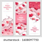 happy valentine's day vertical... | Shutterstock .eps vector #1608097750