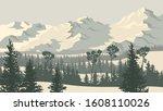horizontal vector illustration... | Shutterstock .eps vector #1608110026