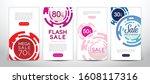 set of modern promotion square  ... | Shutterstock .eps vector #1608117316