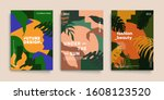 tropic minimal cover templates. ... | Shutterstock .eps vector #1608123520