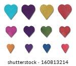 wood heart set  | Shutterstock . vector #160813214