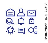 ui user interface icon set blue ...