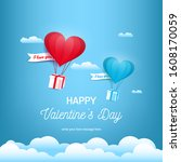 valentine's day background...   Shutterstock .eps vector #1608170059