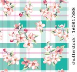 seamless vintage flower pattern ... | Shutterstock .eps vector #160817888