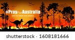 problems forest fire burns in... | Shutterstock .eps vector #1608181666