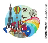 bohemian paris in the abstract...   Shutterstock .eps vector #160820810