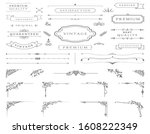 border classic vintage corner... | Shutterstock .eps vector #1608222349