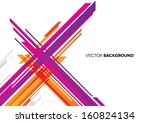 abstract background with lines  | Shutterstock .eps vector #160824134