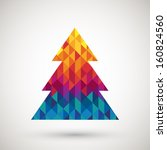 christmas tree with colorful... | Shutterstock .eps vector #160824560