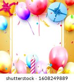 happy birthday party template... | Shutterstock .eps vector #1608249889
