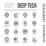 deep tech thin line icons set.... | Shutterstock .eps vector #1608265510