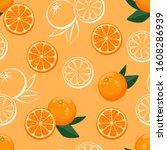 orange citrus fruit seamless...   Shutterstock .eps vector #1608286939