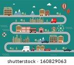 city town cityscape vector... | Shutterstock .eps vector #160829063