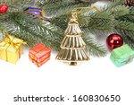 golden christmas tree | Shutterstock . vector #160830650