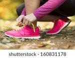 Close Up Of Feet Of A Runner...