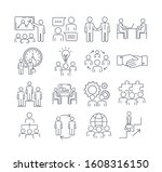 large set of assorted black and ... | Shutterstock .eps vector #1608316150