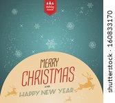vintage christmas background...   Shutterstock .eps vector #160833170