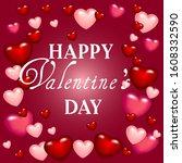 happy valentine's day.... | Shutterstock .eps vector #1608332590