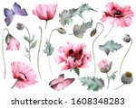 a picturesque set of full blown ... | Shutterstock . vector #1608348283