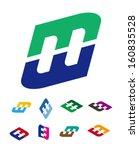 "design vector logo template. ""m""... | Shutterstock .eps vector #160835528"
