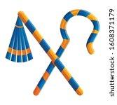 pharaoh tools icon. cartoon of... | Shutterstock .eps vector #1608371179