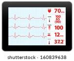 modern electrocardiogram... | Shutterstock .eps vector #160839638