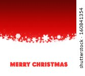 christmas red background | Shutterstock . vector #160841354