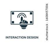 interaction design icon. simple ...