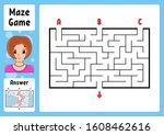 rectangle maze. game for kids....   Shutterstock .eps vector #1608462616