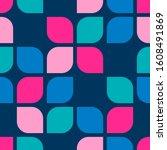 retro abstract geometric shape... | Shutterstock .eps vector #1608491869