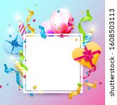 happy birthday party template... | Shutterstock .eps vector #1608503113