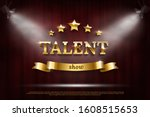 golden talent show text on...   Shutterstock .eps vector #1608515653