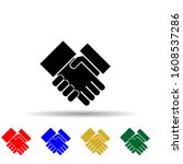 handshake multi color style...