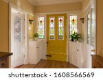 Front Door And Hallway Of A...