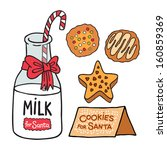 Milk. Cookies For Santa Claus