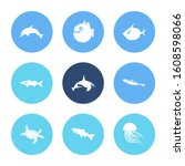 fauna icon set and arctic char... | Shutterstock . vector #1608598066