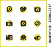 crypto icons set with upload...
