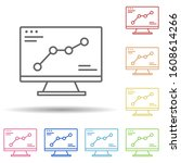 monitor  chart in multi color...