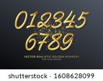 realistic 3d lettering numbers... | Shutterstock .eps vector #1608628099