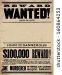 Vector Vintage Wanted Poster...