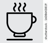 coffee cup icon modern style...