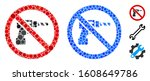 no drill mosaic of filled... | Shutterstock .eps vector #1608649786